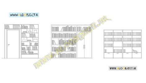 بلاک اتوکد کتابخانه کتاب