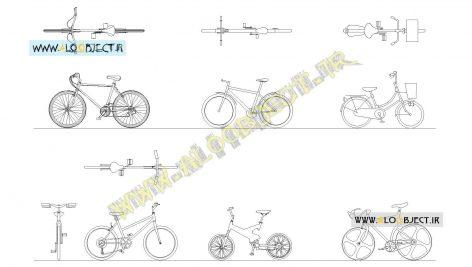 بلاک اتوکد دوچرخه