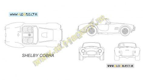 بلاک اتوکد ماشین Shelby Cobra