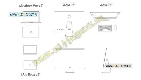 بلاک اتوکد کامپیوتر اپل apple