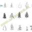 بلاک اتوکد درخت های مخروطی